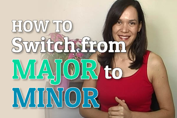 How To Switch From Major To Minor (Ear Training)